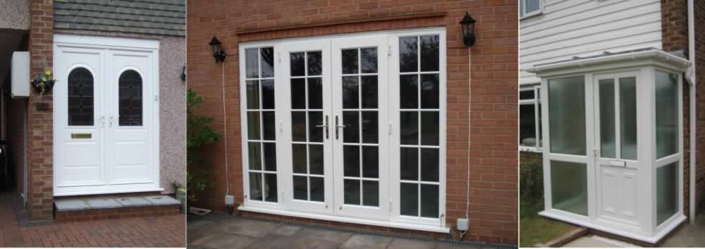 French doors double glazed upvc timber timber for Upvc french doors bristol