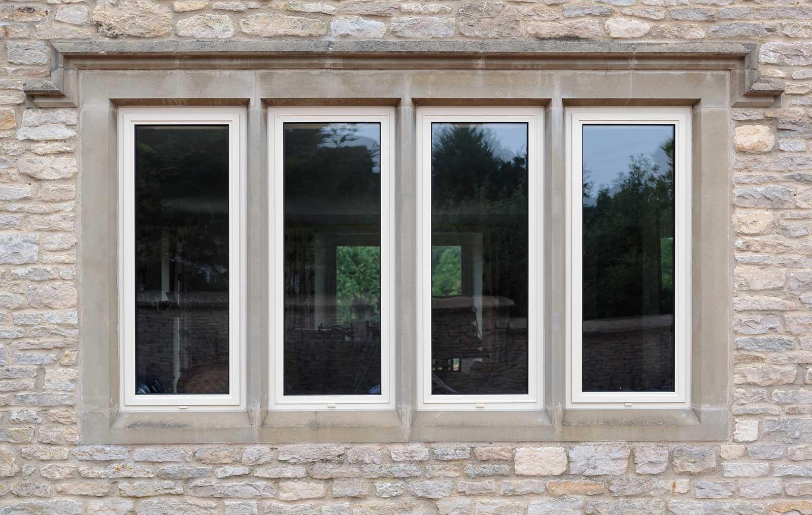 Aluminiuim Slimline Double Glazing Windows Secure Energy