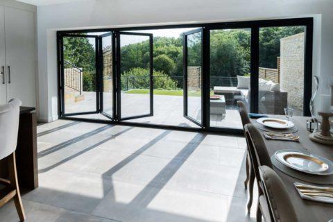 aluminium bi-fold doors congresbury